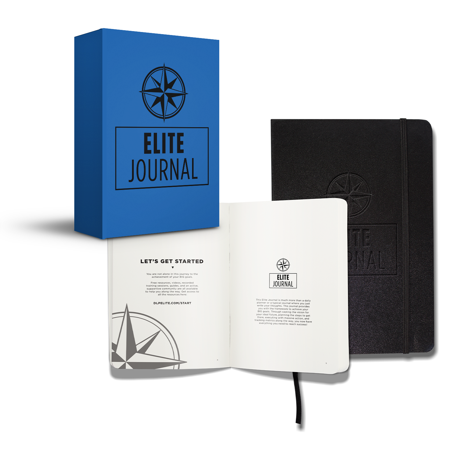 The Elite Journal: Daily Personal Planner and Productivity Organizer. Undated, Quarterly Framework for Big Goal Achievement